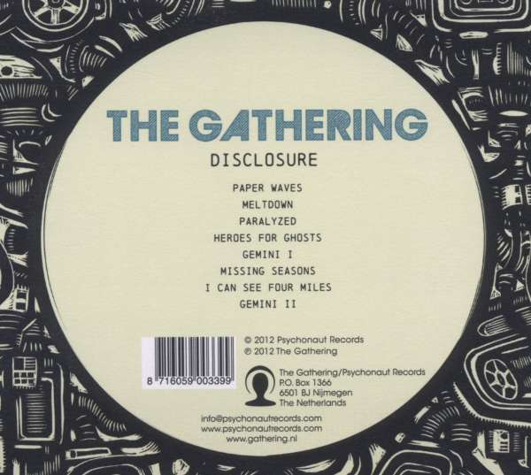 The Gathering Disclosure Cd Jpc