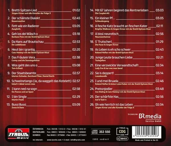 Brettl Spitzen Die Volkssanger Revue Live Aus Dem Hofbrauhaus Cd Jpc